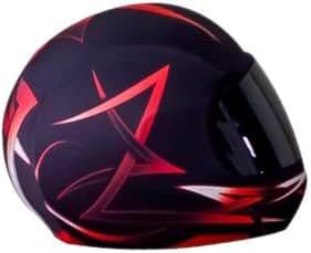 SkullSkins Tribal Motorcycle Helmet Street Skin (Red)