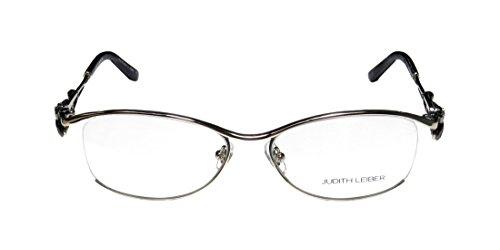 judith-leiber-1647-womens-ladies-designer-half-rim-eyeglasses-glasses-54-16-135-silver-gray