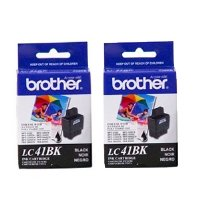 Brother Black Ink Cartridge - 2 Pack (LC41BK2PKS) - Retail Packaging from Brother Printer