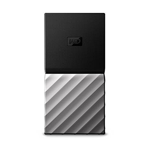 WD 256GB, 512GB, 1TB 포터블 SSD 외장하드 Western Digital WD My Passport SSD Portable Storage - USB 3.1 - black-Gray - 1.8 Inches WDBK3E2560PS, black/silver