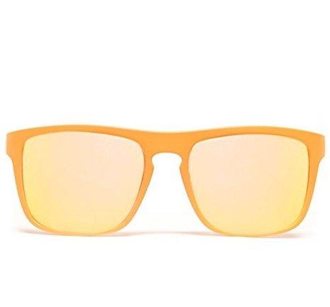 GloFX Bridge Diffraction Glasses - Flat Orange - Chameleon Mirror Optics