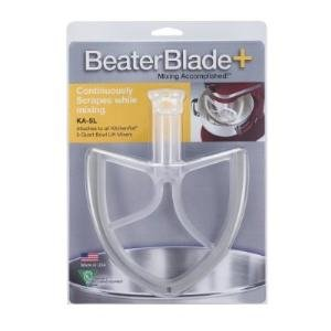 New Metro Design Beater Blade for 5-Quart KitchenAid Bowl Lift Mixers, White