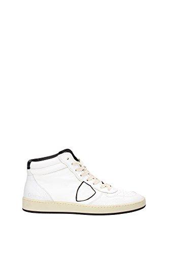 Sneakers Philippe Model Uomo Pelle Bianco e Nero LKHUVL01 Bianco 40EU