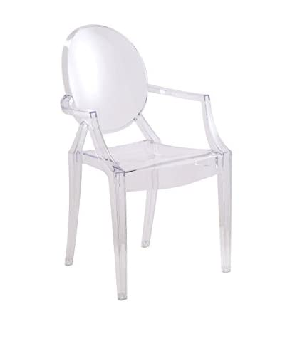 Manhattan Living Arm Chair, Clear