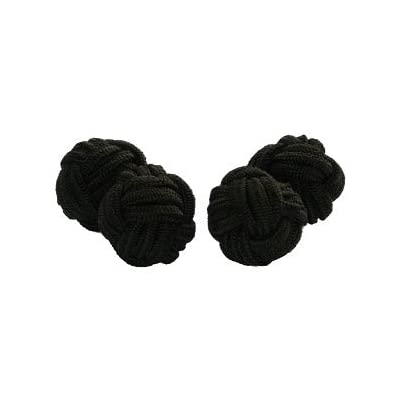 Chocolate Brown Silk Knot Cufflinks