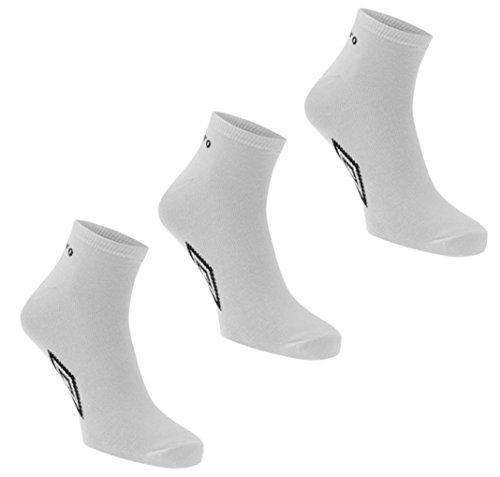 Official-3 paia di calze da uomo in cotone Umbro Sport Trainer Liner Socks Bianco bianco