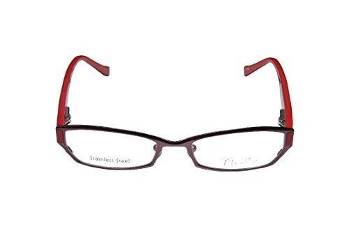 Thalia Sencilla Womens/Ladies Optical Avant-garde Design Designer Full-rim Flexible Hinges Eyeglasses/Glasses (45-16-125, Eggplant / Red) (Elite Carbon Cub compare prices)