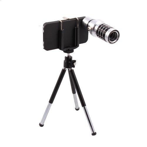 12X Zoom Telescope Camera Lens Kit Plus Tripod Plus Case For Apple Iphone 4 4S 4G