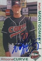 Matt Montgomery Altoona Curve - Pirates Affiliate 2002 Grandstand Autographed Hand... by Hall of Fame Memorabilia