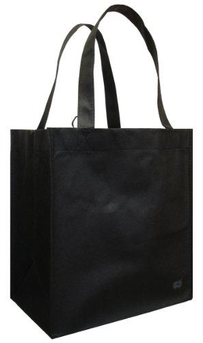 Reusable Grocery Tote Bag Black 6 Pack