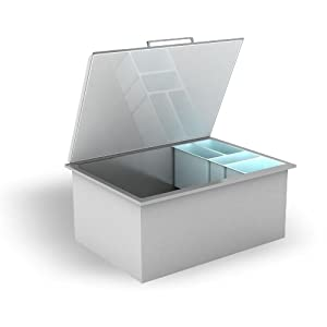 Stainless Drop-In Cooler with Condiment Trays and Drain
