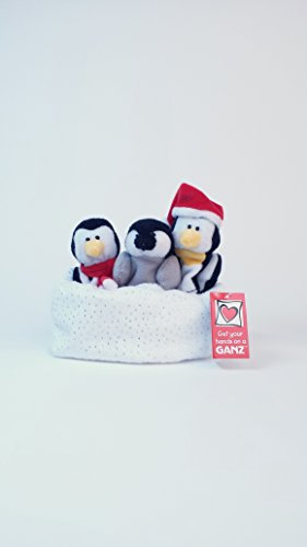 Finger Puppets, Penguin Family in Snow - 1