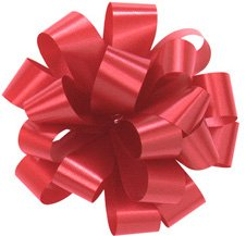 Bows, RED Gift Bows, Christmas Bows, Wrapping Bows, Set of 10 Medium 5