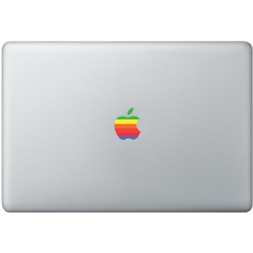 Apple Macbook retro logo decal multicolour sticker art for 11