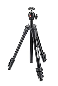 Manfrotto MKCOMPACTLT-BK Compact Tripod (Black)