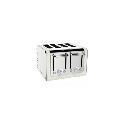 Dualit Architect 4-Slot Toaster, 2 Watt, Canvas White