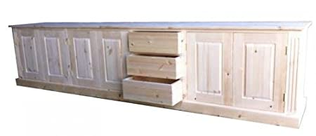 Wye Pine Large Sideboard with Drawers - Finish: Wax - Stain: Waterbased