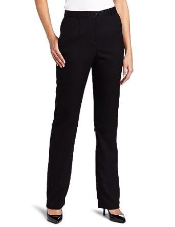 Pendleton Women's Petite True Fit Trouser, Black Worsted, 2