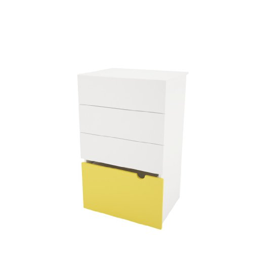 Nexera Taxi 3-Drawer Chest With Mobile Trunk front-936297