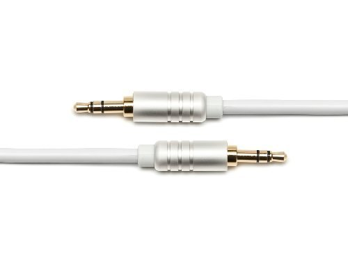 BlueRigger 3.5mm Male to Male Stereo Audio Cable (4 Feet) - Supports iPhone, iPod, iPad, Android and other Smartphones