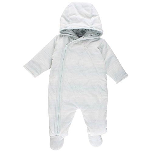 Fixoni Jungen Baby Overall Schneeanzug, wattiert, Nickistoff 80% Baumwolle 20% Polyester, Hellblau/Wollweiß, Gr. 62, Dear Wholesuit Illusion Blue 32840 30-01
