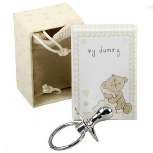 Silver Plated Ornamental Baby Dummy in Gift Box
