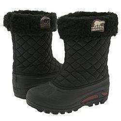 Kids Sorel Powder Storm Black Waterproof Boot NY1632 (Kids 7= EUR 39, Black)