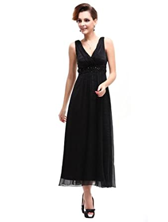 HE08021BK08, Black, 6US, Ever Pretty Dress Women Casual For Mother's Day 08021
