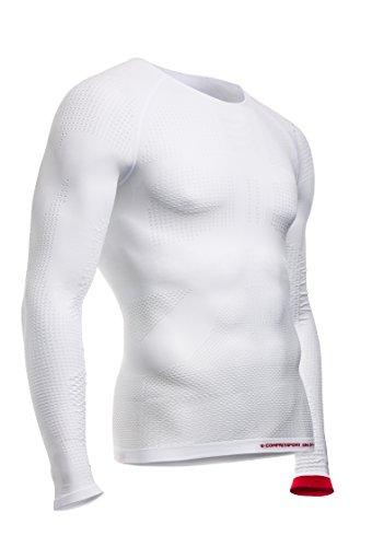 compressport-on-off-multisport-shirt-ls-maglia-compressiva-on-off-multisport-bianco-s