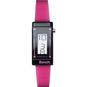 Bench - BC0395PKA - Montre Femme - Quartz Digital - Bracelet Plastique Rose