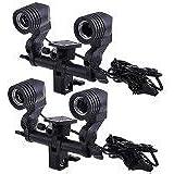 Neewer 2 Units Photography Studio Double E27 Dual Lamb Socket AC Flash Light Stand Swivel Light Holder with Lighting Umbrella Adapter