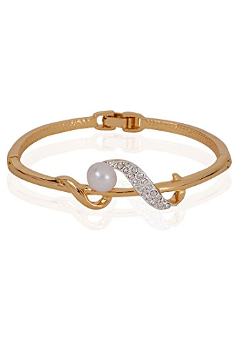 Estelle Estelle Gold Plated Bracelet With Crystals And Pearl(100725) (Transperant)
