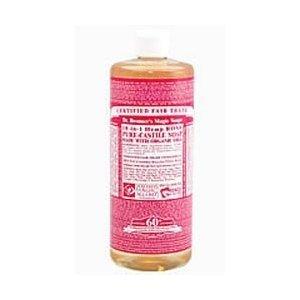 Dr. Bronner'S Organic Pure Castile Liquid Soap Rose -- 2 Fl Oz