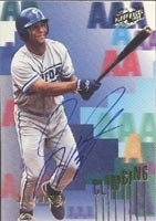 Jay Payton Norfolk Tides - Mets Affiliate 1996 Fleer Excel Climbing Autographed Hand... by Hall of Fame Memorabilia