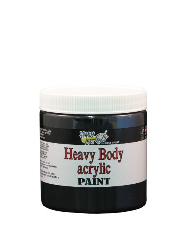 handy-art-by-rock-paint-706-100-heavy-body-acrylic-paint-1-mars-black-8-ounce