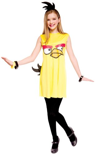 Paper Magic Angry Birds Child Dress Costume, Yellow, 14/16