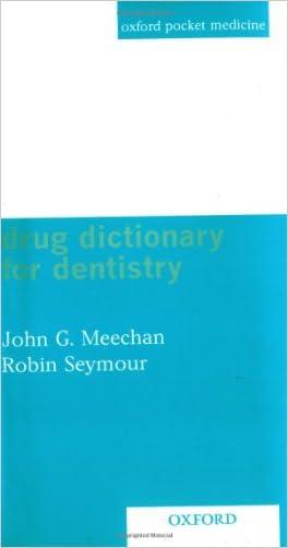 Drug Dictionary for Dentistry