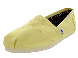 TOMS Women's Classics Shoe Canvas Yellow Size 8 B(M) US