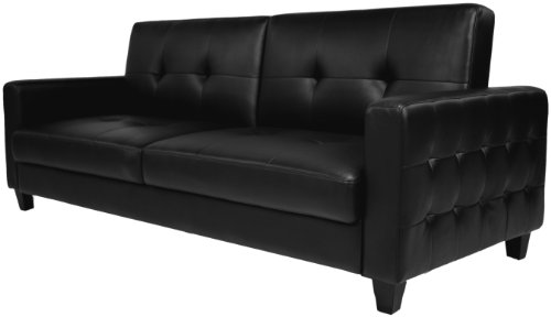Dorel Home Products Rome Sofa Bed, Black