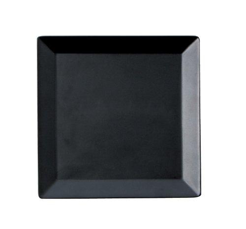 スクエア 19.5cm正角皿 黒 (P00202)