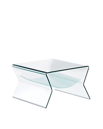 Zuo Modern Yoga Modern Side Table, Clear/Frosted
