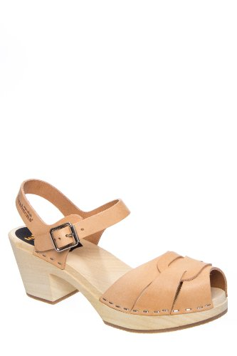Suzanne Low Heel Ankle Strap Clog Sandal