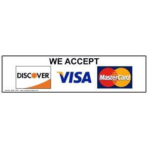 we accept visa mastercard signage and supplies