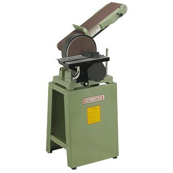 6-X-48-Belt-and-9-Disc-Combination-Sander-with-Cast-Iron-Stand-80-grit-Sanding-Belt-and-80-grit-Sanding-Disc-110V-8-Amp