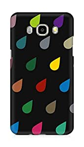 Amez designer printed 3d premium high quality back case cover for Samsung Galaxy J7 - 6 (New 2016 Edition) (Colorful Raining drops)