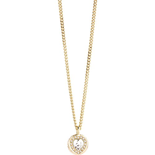 Guess Damen-Kette mit Anhänger COINS OF LOVE Messing teilvergoldet Glas weiß 50.5 cm - UBN21534 thumbnail