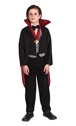 Boland 78.025 - bambini costume vampiro raccapricciante, formato 140, nero