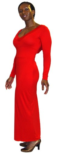 U Are! Fashions Womens Maxi Dress Small Red