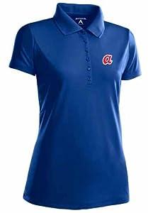 Atlanta Braves Ladies Pique Xtra Lite Polo Shirt (Cooperstown) by Antigua