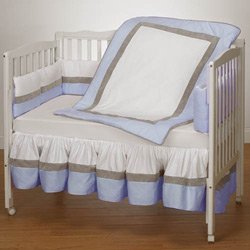Ever So Sweet Porta Crib Bedding - Color: Blue front-803691